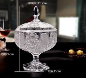 Sunflower Wedding Glass Candy Jar Decorative Sugar Pot Machine Pressed Manufactures