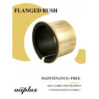 Custom Mild Steel Metal Sleeve Flange Bearing Split Bushings Copper Plating Manufactures