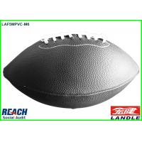 Official Size 9 American Football Balls BlackRugby Ball , Embossed Printing Manufactures