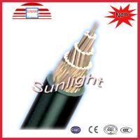 Low Voltage Copper Bare Conductor with XLPE Sheath 6Awg ~ 266Awg 0.6 / 1KV )