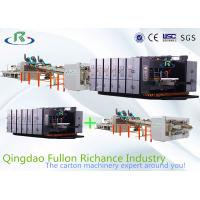 Corrugated Paper Box Carton Folding Gluing Machine Automatic Printing slotting Manufactures