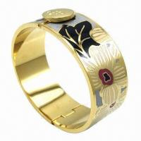 Stainless Steel Bangle with Enamel and High Quality Manufactures