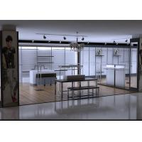Men Clothing Display Case / Store Display Fixtures Decorated With LED Spotlights Manufactures
