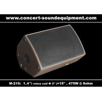 "475W Concert Sound Equipment 1.4"" + 15"" Stage Monitor , Full Range Speaker For Installation Manufactures"