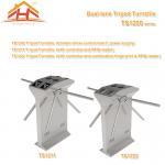 Dual Lane Drop Arm Tripod Style Access Control Turnstile Fingerprint & RFID Reader Manufactures