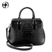 designer genuine leather bag fashion design China factory lady handbag top quality emboss crocodile leather bag Manufactures