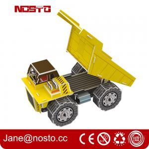 Dump truck 3D puzzle car model kits DIY toys for boy , 3d puzzle truck Manufactures