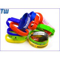 Silicon Wristband Usb Pen Drive 2GB Free Logo Printing Popular Design for sale
