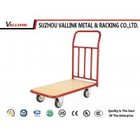 China Professional Heavy Loading Steel Hand Push Trolley 1120*609*990mm on sale