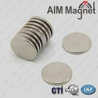China Disc neodymium magnet permanent type D15mmx1.5mm on sale