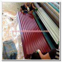 Buy cheap Colored Steel Roofing Sheet, Corrugated Profile Zinc Iron Roof Cladding Panel, Metal Building Material from wholesalers