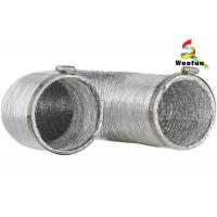 Air exhausting single or double layer aluminum flexible ducting , flexible aluminum foil duct Manufactures