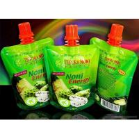 Fruit Juice Spout Pouch Packaging With Cap for sale