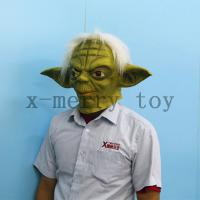 China X-MERRY  Star wars yoda full head movie latex mask with hair for halloween realistic deluxe mask xhm072 on sale