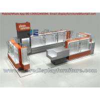 China Mobile Phone Solution Kiosks with Display Stand and Tempered Glass Showcase for Electronic Products Design on sale