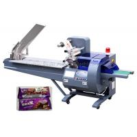 China High Speed Flow Wrap Machine / Ice Popsicle Ice Candy Bar Ice Cream Packaging Machine on sale