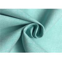 Two Tone Look Comfortable Polyester Cationic Fabric , Waterproof Polyester Fabric Manufactures