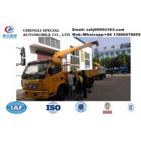 2019s new best price dongfeng RHD 3.5tons telescopic boom mounted on truck for sale, telescopic cargo truck with crane Manufactures