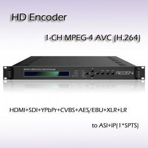 HDMI SDI CVBS Ypbpr TO ASI&IP MPEG-4 AVC/H.264 HD Encoder REH2201 Manufactures
