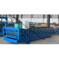 Full-Automatic Standing Seam / Floor Deck Cold Roll Forming Machine 0.4mm - 0.8mm Manufactures