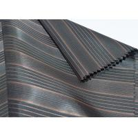 Brown Polyester Lining Fabric , Sleeve Lining Fabric Block Stripe Style Manufactures