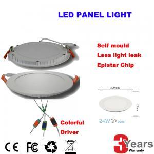 Energy-Saving 24Watt Led Panel Light Round 120degree High Brightness Manufactures