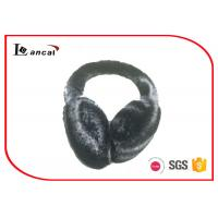 Soft Bicolor Winter Ear Muffs Faux Fur Plastic Band For Ladies Manufactures