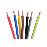 Colored Single Wire Cable PVC Insulation Wire 70℃ Max Conductor Temperature Manufactures