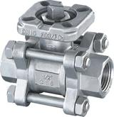 Quality 3PC Screwed Ball Valve with Mounted Pad for sale