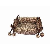 Rectangle Leopard Pattern Pet Bed (FCD1005) Manufactures