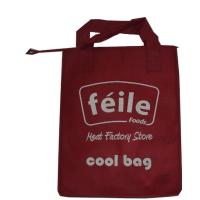 China Red Small Lunch Insulated Cooler Bags for Frozen Food , Silk Screen Logo on sale
