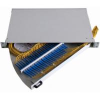 Swing Out Tray 24 cores Fiber Optic Termination Box 1U 430X300MM