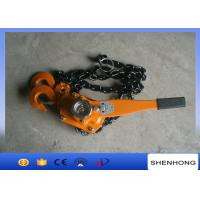 China Cable Pulling Tools Hand Chain Hoist / 3 Ton Level Chain Hoist Block on sale