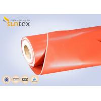3732 Red Thermal Insulation Fabric Fireproof Fiberglass Cloth Silicone Rubber