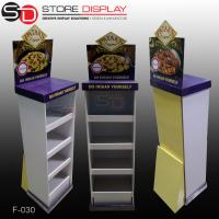POS FSDU Advertising cardboard floor display stand for pizza food Manufactures