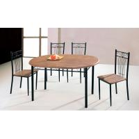 China Kitchen Table and Chairs for Dinning Room , Round Dining Table and Chairs with PE Coated Tube on sale