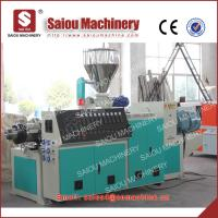 Buy cheap 63-60mm diameter professional U-PVC pipe making machinery pvc pipe extruder from wholesalers