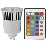 Sync RGB Multi-Color Changing LED Light Bulb GU10 5W + Remote Controller Manufactures