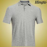 Quick Dry  200 Gsm Cotton Short Sleeve Polo Shirts for Mens , Grey Manufactures
