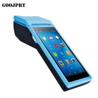3G Android Wireless Pos Terminal 58mm Max Paper Size With Customized UI Design Manufactures