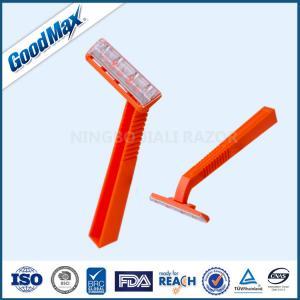 Plastic Single Blade Shaving Razor , Orange Color Single Blade Cartridge Razor Manufactures