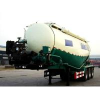 3 Axle 50cbm Bulk Materials and Powder Tanker Semi Trailer Bulk Cement Semi Trailer With Cast Steel 10 Studs , Oil Seals Manufactures