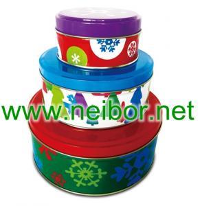 China round tin box set, cake tin box, baking tin box, cookie tin box on sale
