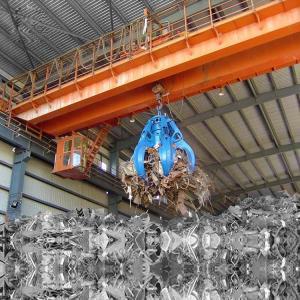 Double Girder Bridge Crane 5t - 20t Lifting Rail Traveling Crane With Grab Manufactures