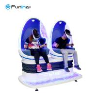 Two Seats Motion Chair Cinema 9D Virtual Reality Game Machine Blue With White Color Manufactures