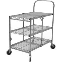 Collapsible Wire Rolling Cart For Kichen 290lbs Max Load Weight for sale
