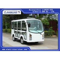 5KW Enclosed Passenger Cabin Electric Tourist Buggy 8 Seats White Color Manufactures