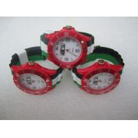 Black White Green Ice Flag Silicone Quartz Watch For United Arab Emirates Election Manufactures