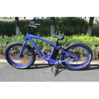 Ladies mountain bike with super fat tires , 35Kg G.W Fat Tyre Ebike with LCD Panel Manufactures
