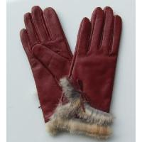 Red Fashion Gloves with Fur Manufactures
